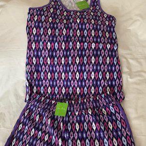VERA BRADLEY Lilac Ikat Pajama Tank/Short Set Sz M